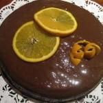 Bizcocho de naranja con chocolate