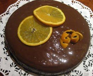 Bizcocho de Naranja con Chocolate receta