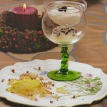 Suflé de foie y espuma de trufa