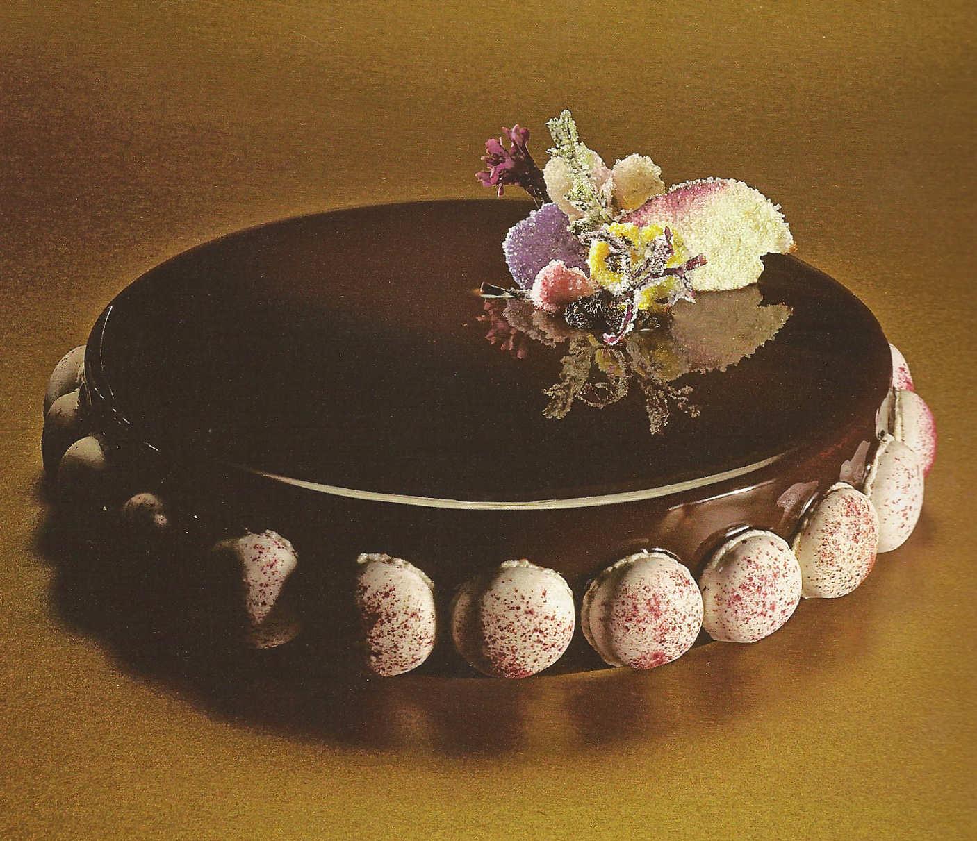 tarta navidad glaseado chocolate puro