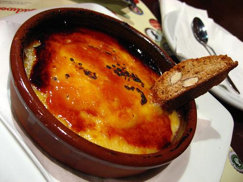 Crema catalana de huevo
