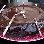 Morenito gracioso con glaseado de chocolate