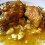 Gallina o pollo en pepitoria