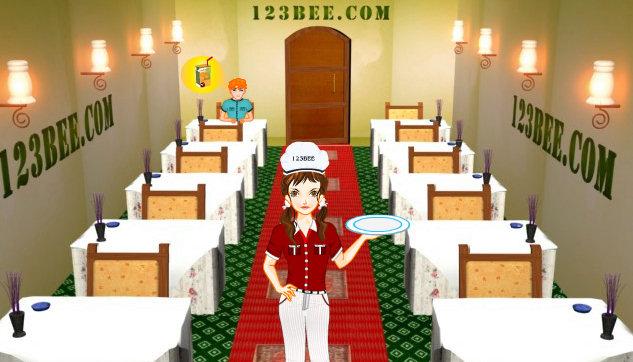 Juego de camarera en el hotel Las abejas