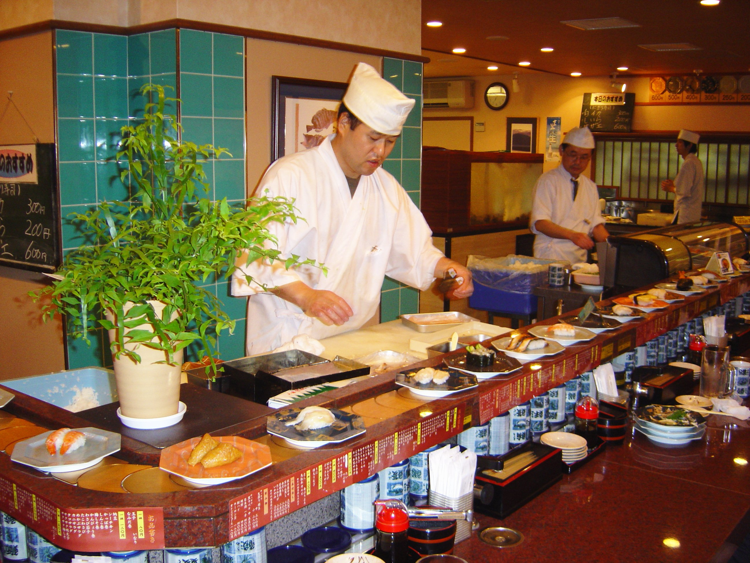 Juego en el bar de sushi