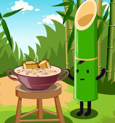 prepara la sopa de Bambo