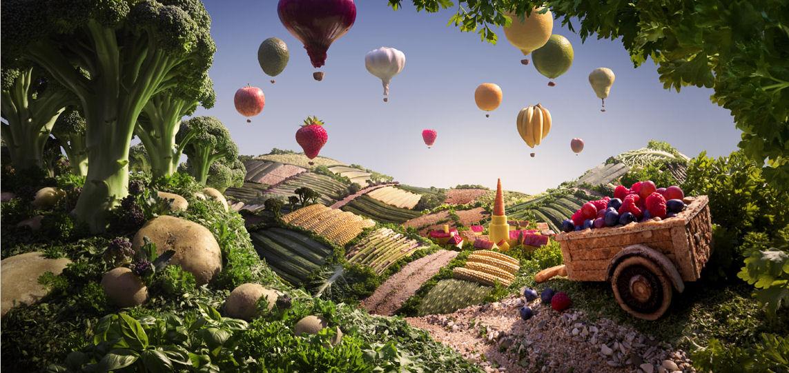Fotografias paisajes con alimentos