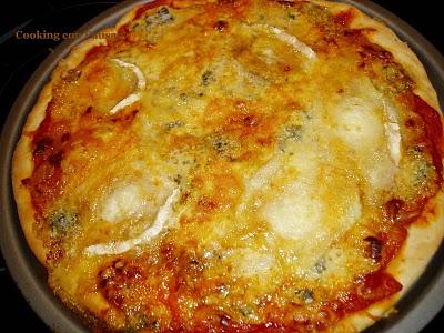 cocinar pizza