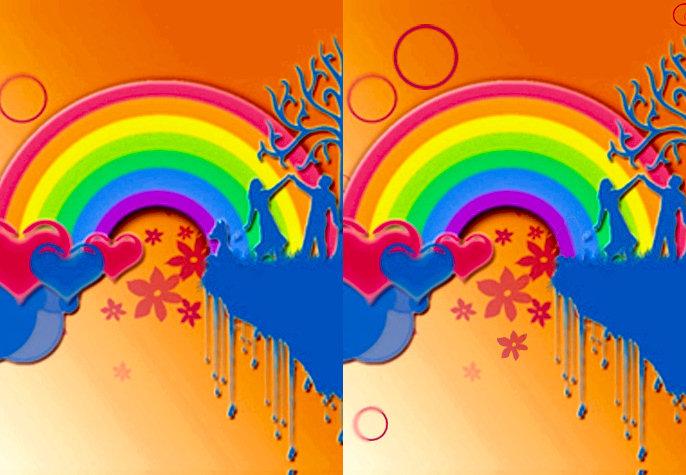 juego diferencias arcoiris