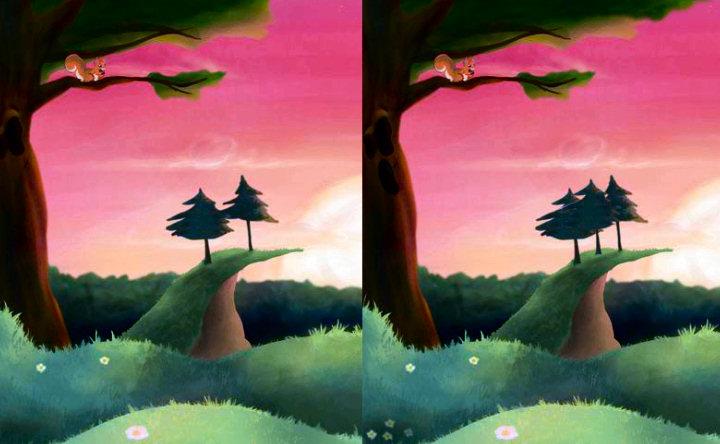 juego diferencias bosque encantado