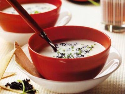 crema almejas caviar