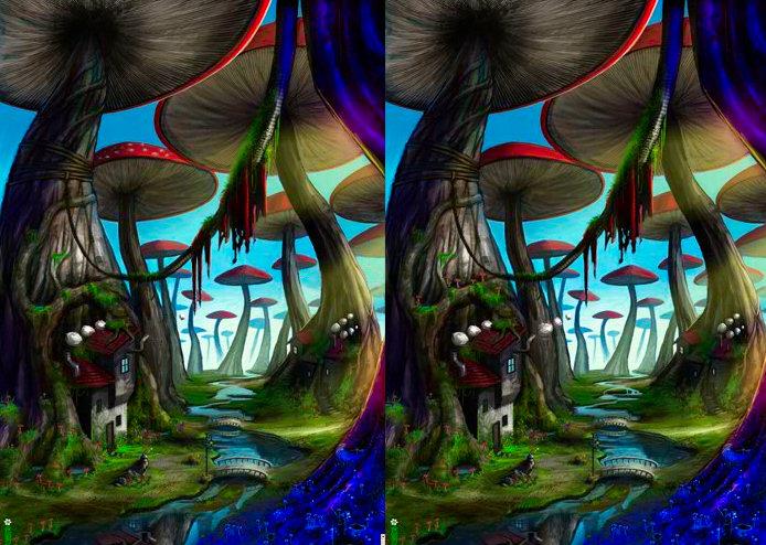 juego diferencias bosque setas