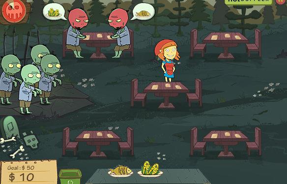 juego restaurante zombis