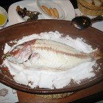 Dorada a la sal con salsa tártara