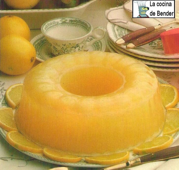 gelatina naranja postre receta