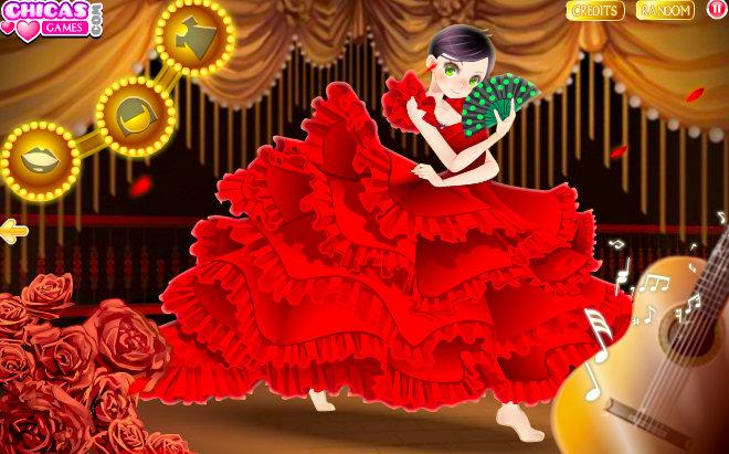 juego vestir flamenca