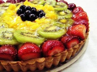 tarta de frutas fresas kiwis