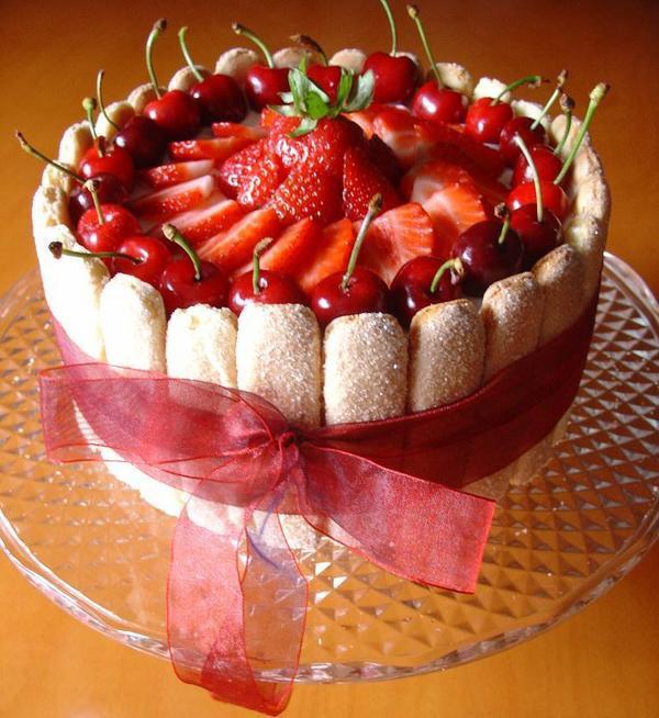 charlota de fresas postre receta
