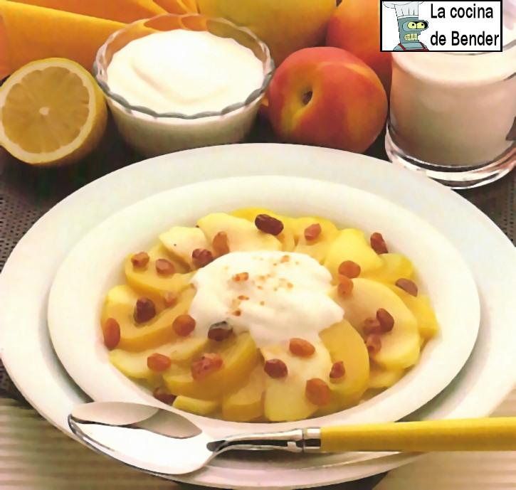 compota manzanas receta postre