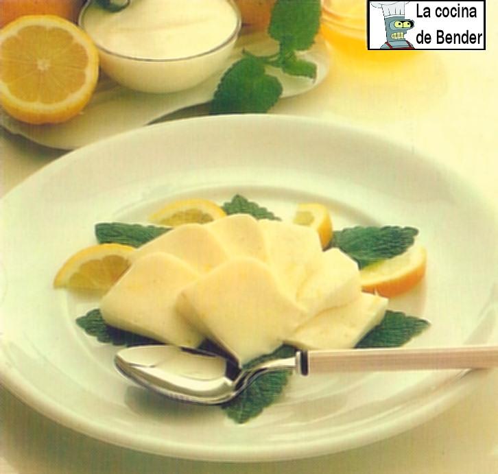 cuajada de leche y limon