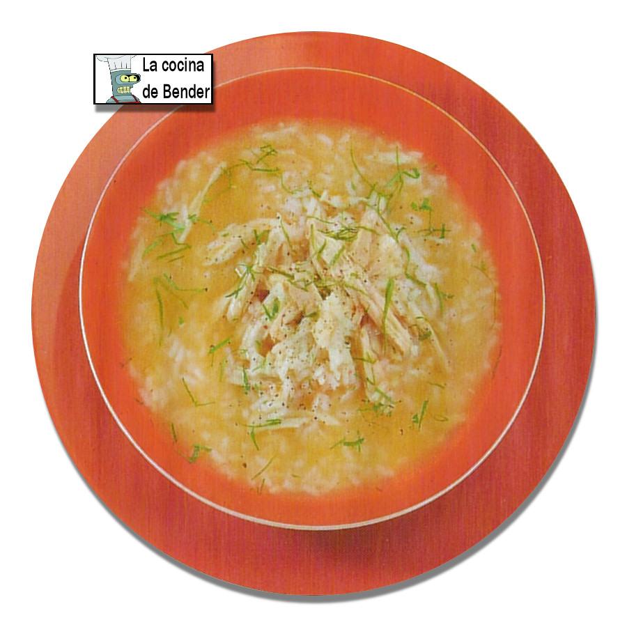 sopa pollo a la madrilena
