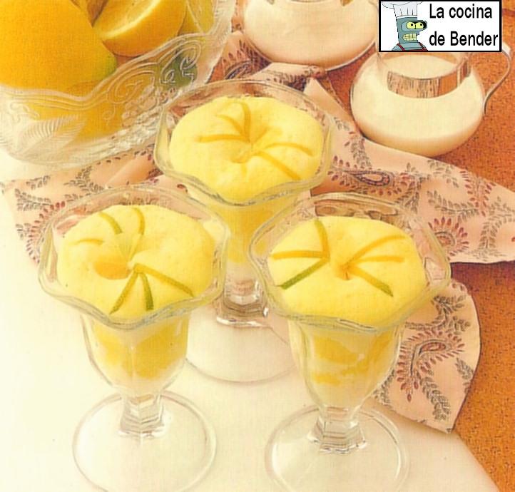 sorbete limon lemon sorbet receta postre
