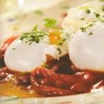Verduras con huevos