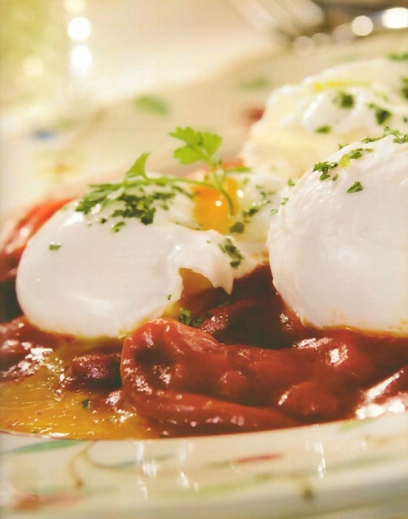 verduras con huevos receta vegetariana
