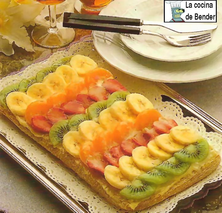 hojaldre frutas postre recetas