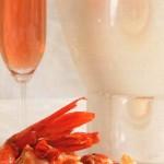 Cartuja de mariscos sobre polenta de sémola