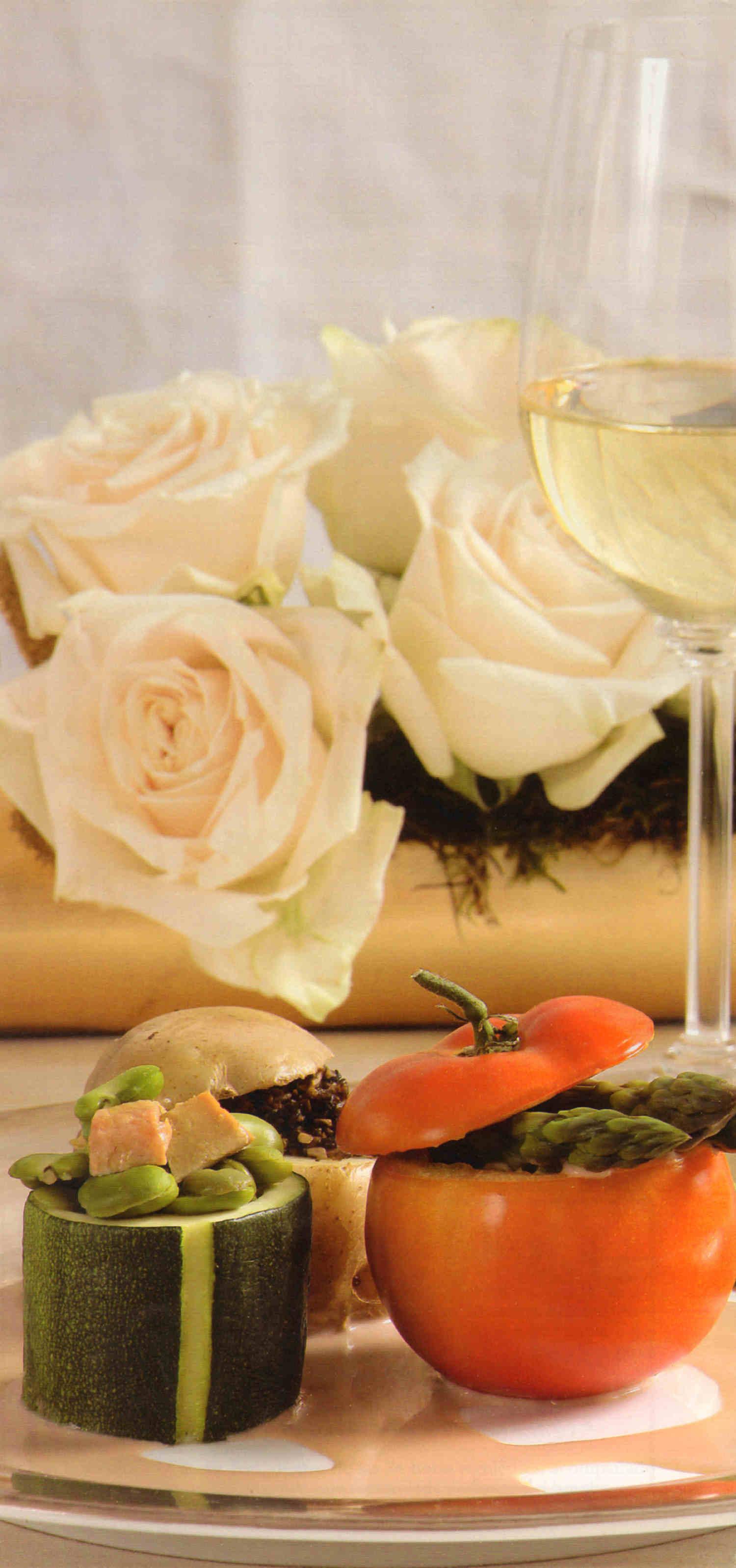Fuente de verduras rellenas receta