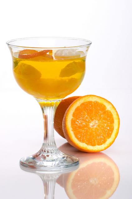 coctel cava naranja bebida