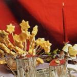 Estrellas de Belén de queso emmental