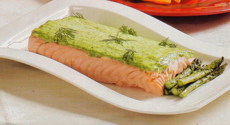 filetes-salmon-emulsion-hierbas-receta