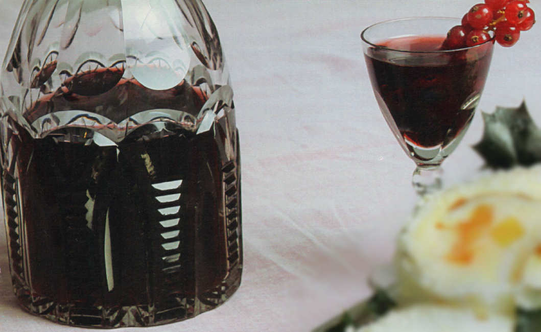vino dulce grosellas mirtilos arandanos