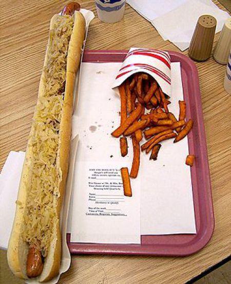 hot dog 2-pies de largo
