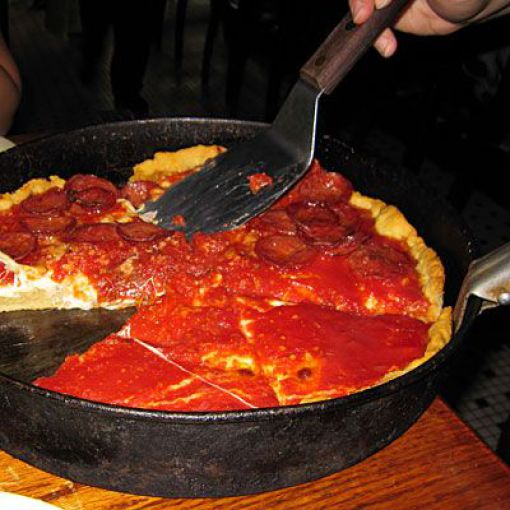Deep-plato de pizza