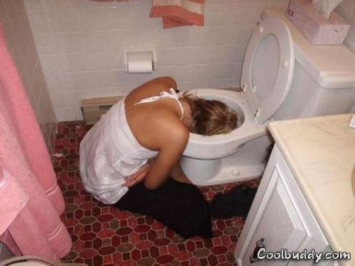 muchacha vomito