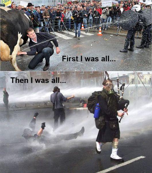 manifestantes cachondos