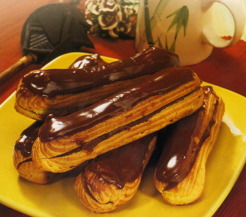eclairs chocolate receta postre reposteria