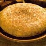 Tortilla facil de patatas y cebolla al horno