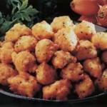 Receta de buñuelos de arroz, gambas y brócoli