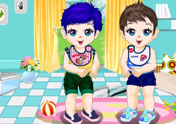 juego-vestir-gemelos