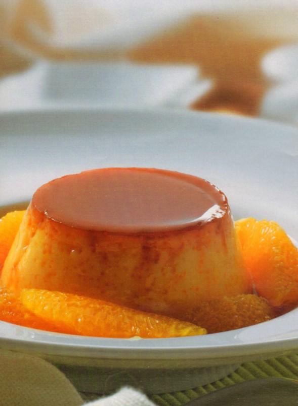 Flan de naranja y mandarina
