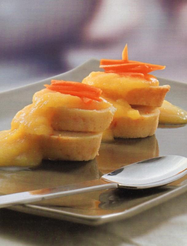 Pastelito de zanahoria y manzana