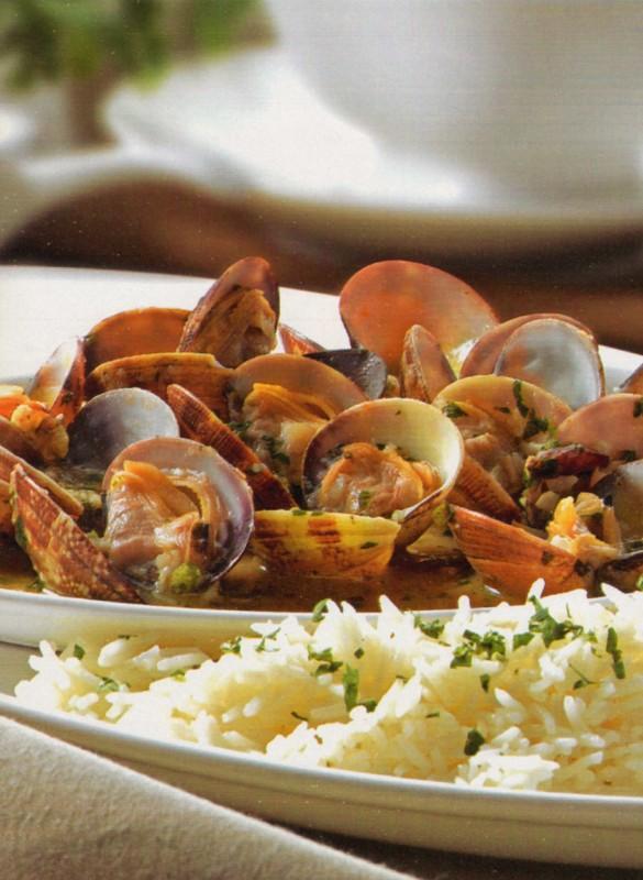 almejas marinera arroz basmati
