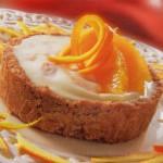 Pasteles de queso y naranja