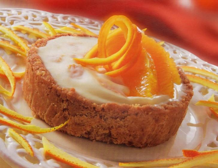 receta pasteles queso naranja