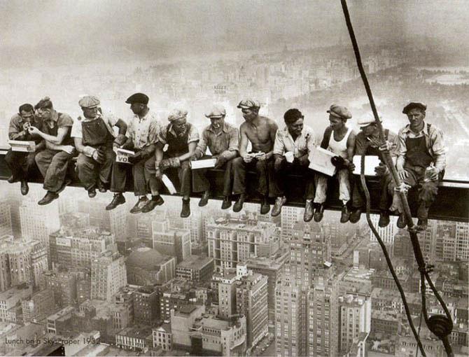 trabajadores descansando