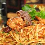 Receta de fettuccini o espaguetis a la puttanesca